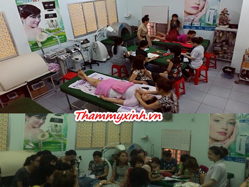 dạy học chăm sóc da, massage, mat xa
