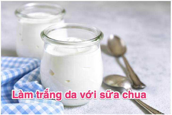Làm trắng da bằng sữa chua